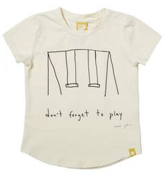Don't Forget To Play Short Sleeve T-Shirt Oatmeal Marc Johns Rock Your Baby