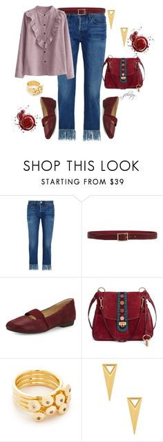 """""""Day O Me Say Day O"""" by jfcheney ❤ liked on Polyvore featuring 3x1, Orciani, Taryn Rose, Chloé, Elizabeth and James and Michelle Campbell Jewelry"""