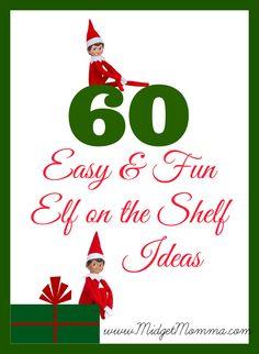 EASY Fun Elf on the Shelf Ideas for the Christmas Season