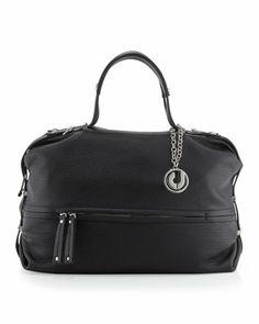 Charles Jourdan Janet Bottom Half Zip Shoulder Bag Black