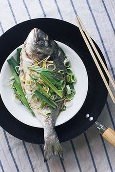STEAMED FISH with LEEK & GINGER [China] [wander-crush]