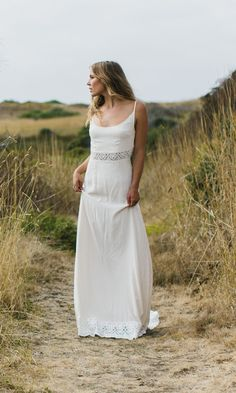 """Alternative bride wedding dress, the """"Dean"""" is a weightless soft cream silk gown that is every bohemian's dream. You'll be falling in love"""
