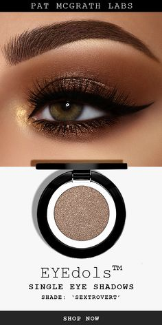 Recreate this sultry bronze metallic cat eye look with 'Sextrovert' , a *new* single eyeshadow pan from PAT McGRATH LABS. Highly pigmented formula that glides, blends and builds flawlessly. Choose from shimmer, matte and metallic finishes. Eyeshadow Tips, Eyeliner Hacks, Eyeshadow Looks, Eyeshadow Makeup, Orange Eyeshadow, Natural Eyeshadow, Colorful Eyeshadow, Colorful Makeup, Natural Makeup
