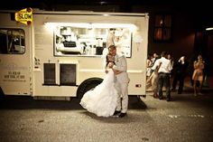 wedding-food truck catering. Ooh - that way guests can choose what they want maybe have different fancified street foods