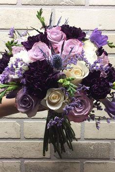 silk wedding bouquets violet c m eventcreations via instagram #weddingbouquets