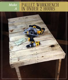 Make A Pallet Workbench In Under 2 Hours