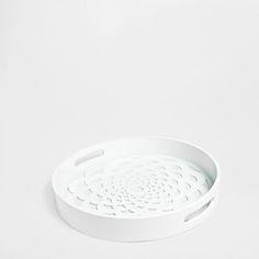 Opengewerkt Rond Dienblad - Dienbladen - Tafelaccessoires   Zara Home België