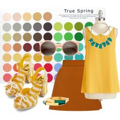 """True Spring Flamboyant Gamine VII"" by allboyallgirl on Polyvore"