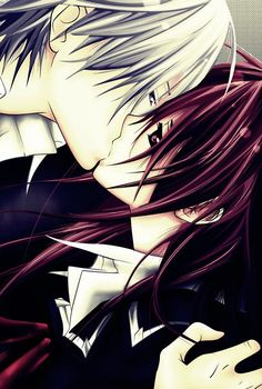 """Yuuki and Zero of """"Vampire Knight"""" uhhh normally i wouldnt even want to pin this, but i just love the art"""
