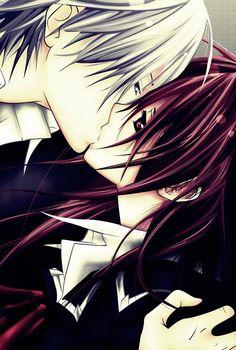 """Yuuki and Zero of """"Vampire Knight"""""""