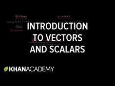 Khan Academy Intro to vectors & scalars | Displacement, velocity, and time…