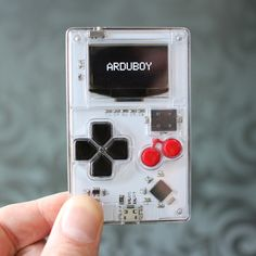 Arduboy - a credit-card-sized Arduino-powered video game system for hobbyists and learners.