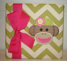 Girly Sock Monkey by doodlebugsga on Etsy, $30.00 Purchase at www.doodlebugsga.etsy.com