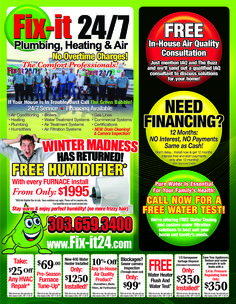 Winter Madness Has Returned with Fix It 24/7's November Specials! Call us today to schedule an appointment 303-659-3400!  www.fix-it24.com