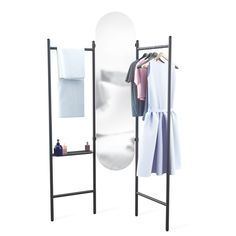 collapsible Vala Floor Mirror | Umbra | $180