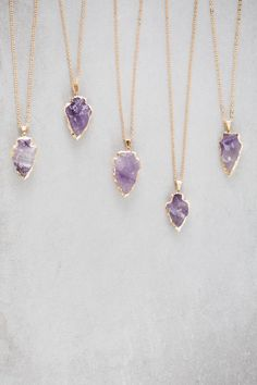 Love, love, love the amethyst Cute Jewelry, Jewelry Box, Jewelry Necklaces, Gold Jewellery, Jewellery Stand, Jewlery, Luxury Jewelry, Silver Jewelry, Candy Necklaces