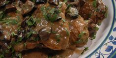 Coq Au Riesling from Laura Calder. A white wine take on the classic mouth watering dish. Delish and sure to impress :)