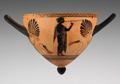 Cup with a Young Woman Playing the Pipes. Attributed to Psiax, Greek, Athens, 520 - 510 B.C. | ©J. Paul Getty Trust