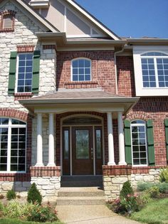 Daventry Model Highend custom home with partial stone exterior