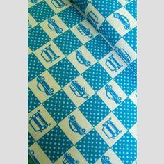 Box Cars Blue - Echino 2011 fabric by Etsuko Furuya