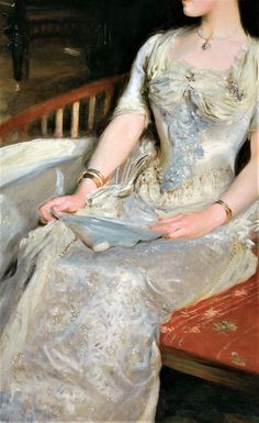 Mrs Cecil Wade by John Singer Sargent Victorian Paintings, Period Outfit, Art Hoe, Classical Art, Fabulous Fabrics, Marie Antoinette, Pure Products, Elegant, Lady