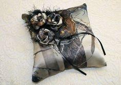 Ringbearer Camouflage Pillow - Camo Wedding - Camouflage Wedding - Camo Rose Pillow - Camo Ringbearers Pillow - Camo Ring Bearer Pillow on Etsy, $27.95 #camoweddingsupplies