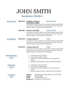 Free Printable Resume Template With Monogram Instant Download As