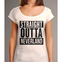 Straight Outta Neverland Shirt Disney Shirt Straight Outta Shirt... ($26) ❤ liked on Polyvore featuring tops, t-shirts, grey, women's clothing, sheer t shirt, grey t shirt, graphic print t shirts, gray shirt and scoop neck tee