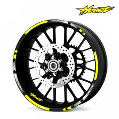 For Kawasaki Motorcycle Adhesive Wheel Decal Reflective StickersY 17 Inch Rims, 17 Inch Wheels, Er6n, Motorcycle Wheels, Waterproof Stickers, Hornet, Motorcycle Accessories, Adhesive, Helmets