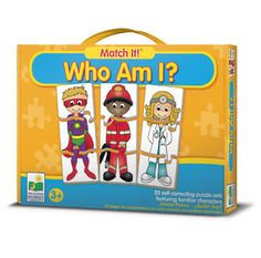Match It who am I? The Learning Journey, Logical Toys.com, logical toys Learning Games For Kids, Fun Games For Kids, Games For Toddlers, Puzzles For Kids, Learning Toys, Preschool Learning, Toddler Preschool, Kid Games, Toddler Learning