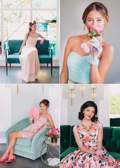 ModCloth bridesmaid dresses | Photo by Fondly Forever | Read more - http://www.100layercake.com/blog/?p=72601