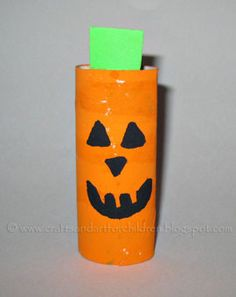 Make a Pumpkin Craft from a Toilet Paper Tube