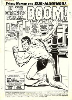 John Buscema pencils and Johnny Craig inks - a beautiful combination. From Sub-Mariner #20.