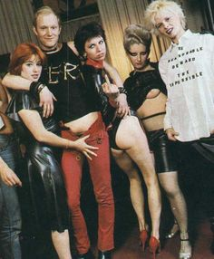 That's Chrissie Hynde there in the center and Vivian Westwood there to the right. Epic photo!
