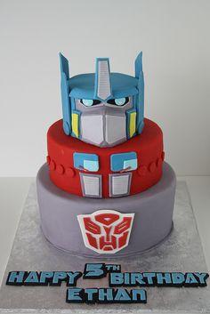 Optimus Prime cake Cakes Pinterest Cake Cake ideas boys and