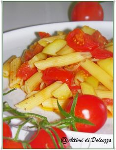 PENNE CON PATATE E POMODORINI / PENS WITH POTATOES AND TOMATOES