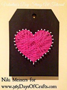 Valentines day heart home decor string art