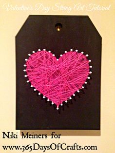 Valentines day heart home decor string art