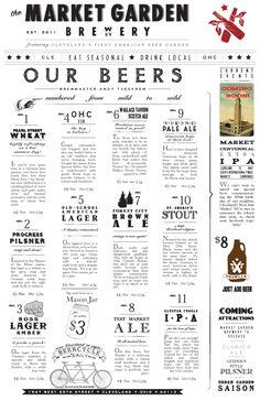 Menu Ideas :: Art of the Menu: Market Garden Brewery