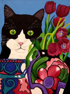 """""""Tullulah and Tulips"""" by Anni Morris"""