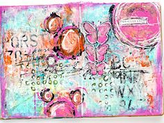 Perseverance - Mixed Media Art Journal Documented Life Project - Week 5 - Heather Greenwood Designs