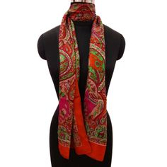 Multicolor Stylish Pure Silk Scarf Floral Summer Neck Wrap Stole 70? X 20?  ..this is img