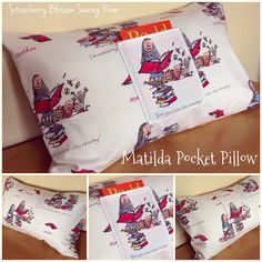 Is it Monday already?! Where did the weekend go?! I'm looking forward to a week of lazy mornings and no school runs . Today's offering is for this Matilda pocket pillow. It's a full size pillow, envelope backed for easy washing and makes a perfect home for your child's favourite book or a special keepsake. This is priced at £19 and can be posted straight away. #sew #sewing #sewingaddict #sewingproject #pocketpillow #pillow #reading #book #child #children #bed