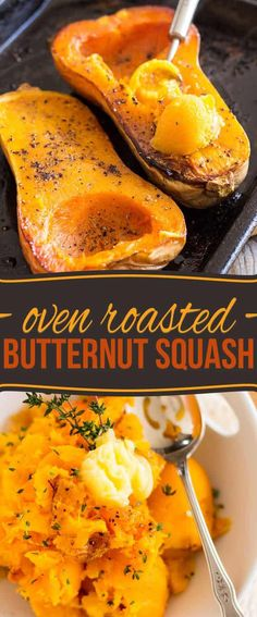 So simple yet so elegant, Oven Roasted Butternut Squash is a tasty and versatile side dish that goes good with just about anything, any time of day! #cookingtips