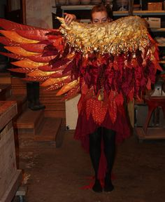 Phoenix costume for Edible Alien Theatre by The Echo Exchange, via Flickr