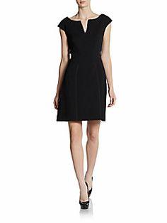Zac Posen - Cap Sleeve Pleat-Neck Dress-graduation dress?
