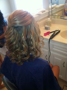Mother Of The Bride Long Hairstyleshalf Up Half Down