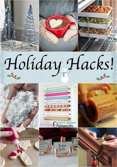 Holiday Hacks! Why didn't I think of these! Great ideas!