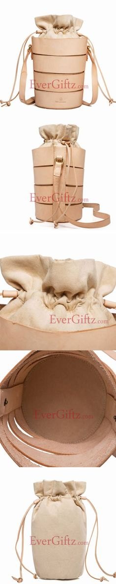 Genuine bucket Leather vintage handmade shoulder bag crossbody bag handbag