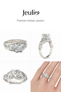 Princess Kylie Sterling Silver Twisted Crown Ring
